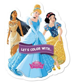 Let's color with... Disney Princess
